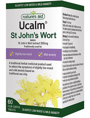 Natures Aid Ucalm St Johns Wort 300mg - 60 Tablets  LOW MOOD & MILD ANXIETY