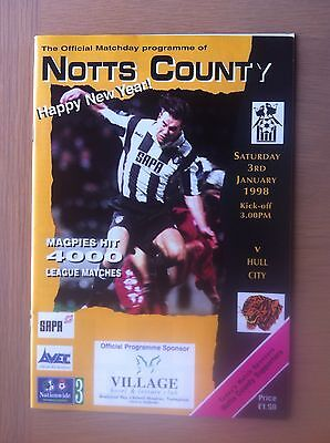 Notts County V Hull City 1997-98