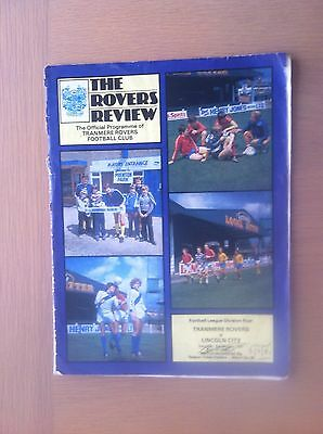 Tranmere Rovers V Lincoln City 1980-81