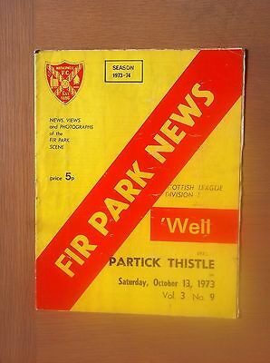 Motherwell V Partick Thistle 1973-74