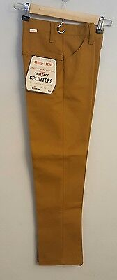 Vintage 60's BILLY THE KID Boys Pants splinters mustard brown size 10 slim
