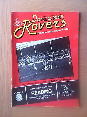 Doncaster Rovers V Reading 1984-85