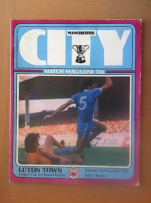 Manchester City V Luton Town 1977-78