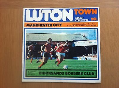 Luton Town V Manchester City 1977-78