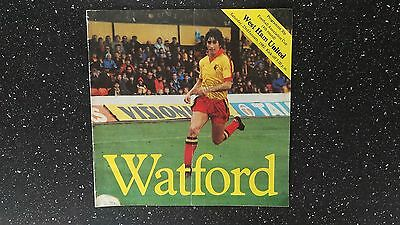Watford V West Ham United 1981-82