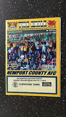 Newport County V Clevedon Town 2002-03.