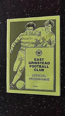 East Grinstead V Langney Sports 1987-88