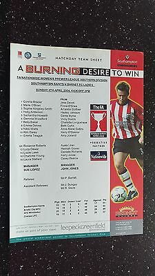 Southampton Saints V Barnet Ladies 2003-04.