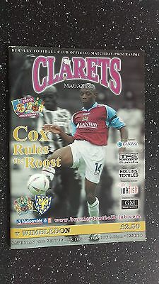 Burnley V Wimbledon 2002-03