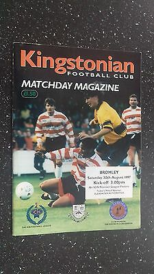 Kingstonian V Bromley 1997-98.