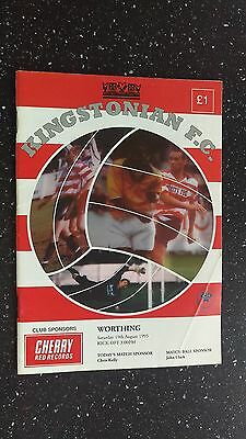 Kingstonian V Worthing 1995-96.