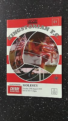Kingstonian V Molesey 1995-96.