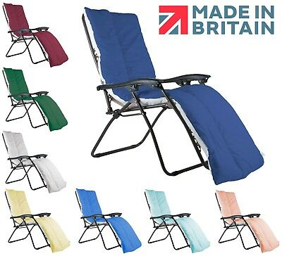 Sun Lounger CUSHION TOPPER ONLY - UK Made (CHAIR NOT INCLUDED)