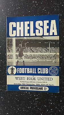 Chelsea V West Ham United 1970-71