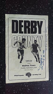 Derby County V Halifax Town 1970-71.