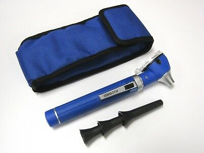 Fiber Optic Otoscope Mini Pocket Medical Ent Diagnostic Black Color Set