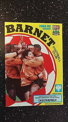 Barnet V Chesterfield 1992-93