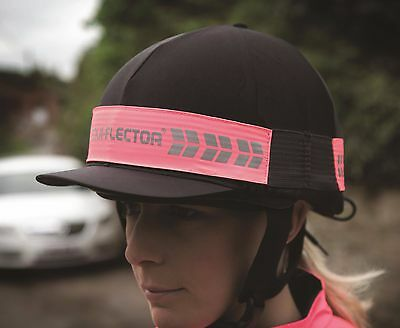 NEW Shires Hi Viz Equi-Flector Fluorescent - Reflective Strips - Riding Hat Band