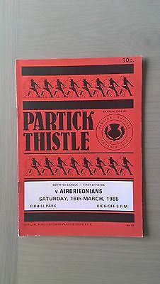 Partick Thistle V Airdrieonians 1984-85