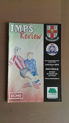 Lincoln City V Rochdale 1993-94