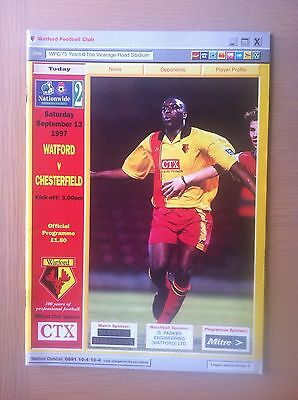 Watford V Chesterfield 1997-98