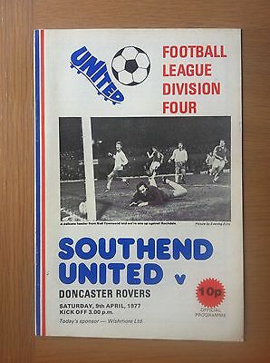 Southend United V Doncaster Rovers 1976-77