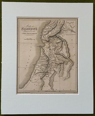 Early 19th Century Map of Palestine