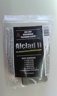 Micromesh Polishing Cloth set - Alclad II ALC-301 Free post F1