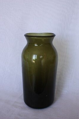 "A very nice end of the 18th century so called ""seed bottle"" in green glass."
