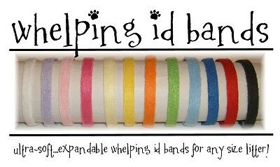 Breeding Litter Collar Whelping Id Band 6 Pk Bright Puppy Kitten Fleece 6 COLORS