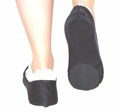 Dance Sliders Covered Heel Black, Unisex - Size X Large