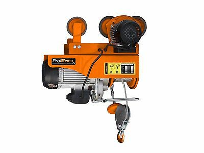 PROWINCH 2,200 lbs Electric Rope Hoist with Power Trolley Single/Double Hook