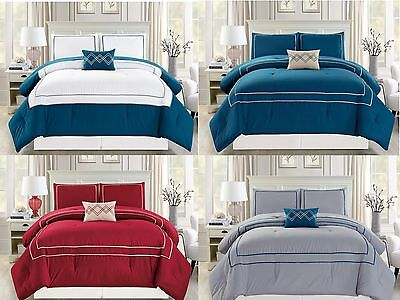 Lisa 4 Piece Elegant Soft Bedding Solid Comforter Set 21078 - All Sizes