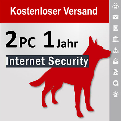 G Data Internet Security 2018 Vollversion GDATA 2 PC / 1 Jahr plus Bonus-Periode