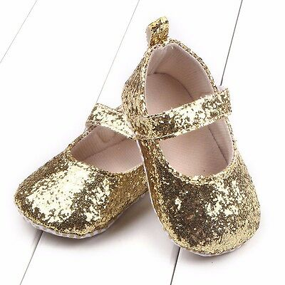Soft Bottom Baby Girls First Walker Toddler Baby Shoes Sequin Infant Soft Sole F