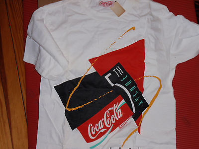 Vintage 1991 Coca Cola  Fifth Ave. New York  T Shirt  New With Tags  Size Medium