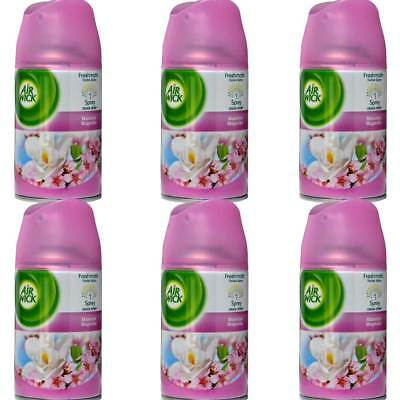 6 x Air Wick Magnolia Refill Pack Freshmatic Max Air Freshener - 250ml