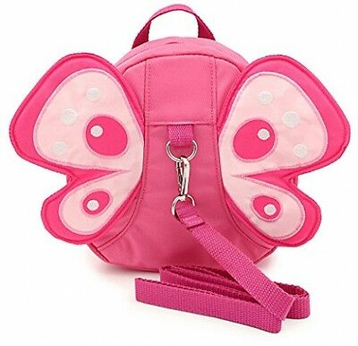 Baby Butterfly Walking Safety Harness Reins Toddler Child Strap Backpack Pink
