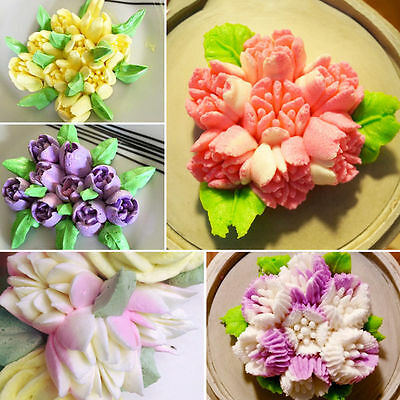 32 PCS Tulip Flower Icing Piping Nozzle Stainless Tip Flower Cake Decor Tool DIY