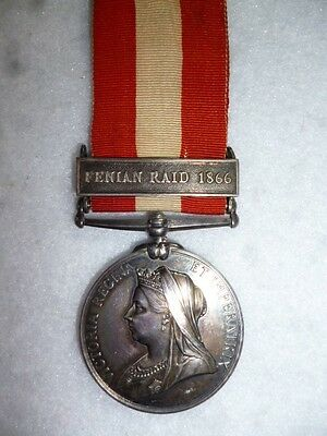 "Canada General Service Medal 1866-70, ""Fenian Raid 1866"" to The Rifle Brigade"