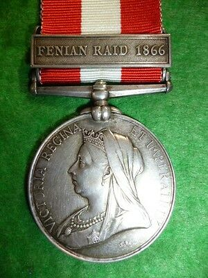"Canada General Service Medal 1866-70, ""Fenian Raid 1866"" to The 4th Chasseurs"