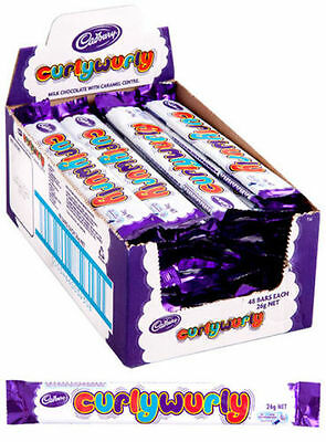 48 x Cadbury Curly Wurly Chocolate Bars Chewy Caramel Favourite 26g!