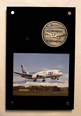 Boeing 787 Dreamliner 1st Delivery to ANA All Nippon Airways Medal & Paperweight