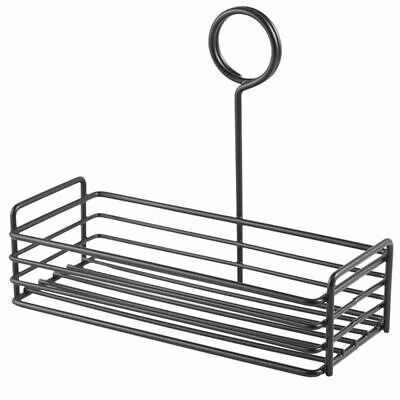 Rectangle Wire Condiment Holder - Counter Tidy Black Table Caddy Buffet Rack New