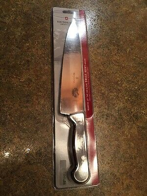 """New! Victorinox 10"""" Chef's Knife Clamshell Swiss Army Clamshell Rosewood Handle"""