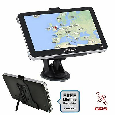 "XGODY 7"" 8GB Truck Car GPS Navigation Lorry HGV Sat Nav EU Map Capacitive panel"