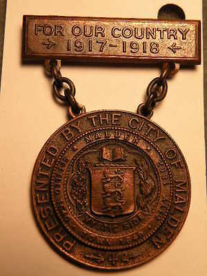Malden, MA. - City / Town Medal -WWI