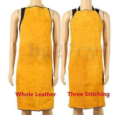 100x70CM Cow Leather Welder Apron Protective Clothing Thermal Welding Protection
