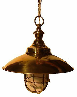 Vintage style Marine HANGING Light / Lamp - BRASS - Best Collection (B)