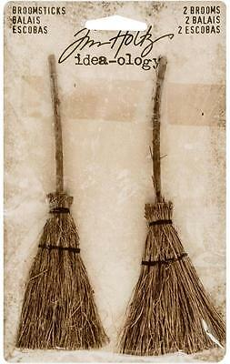 Tim Holtz Idea-Ology ~ BROOMSTICKS ~ Witches Brooms 2 in pack TH93318
